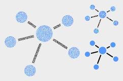 Pixelated传染媒介联系连接象 向量例证