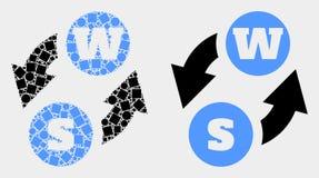 Pixelated和平的传染媒介字母表字符交换象 皇族释放例证