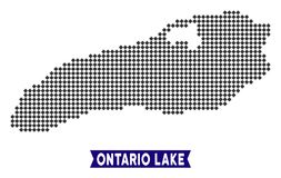 Pixelated安大略湖地图 皇族释放例证