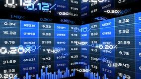 pixelated数字式企业财政和储蓄统计桌图和信息数据的无缝的动画编号背景 向量例证