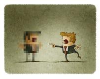 Pixelated бизнесмен иллюстрация вектора