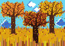 Pixelated autumnal scene Stock Photography