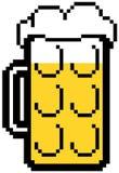 Pixelated-Bier Lizenzfreies Stockbild