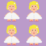 Pixelated bride vector pattern. Stock Images