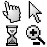 Pixelated computer cursors Stock Image