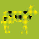 Pixelated cow Royalty Free Stock Photo