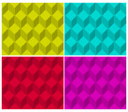 Pixelated cubic seamless background pattern Royalty Free Stock Image