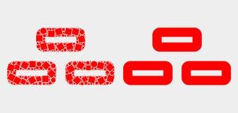 Pixelated e icono plano de los ladrillos del vector stock de ilustración