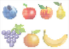 Pixelated Fruit stock photo