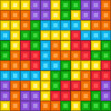 Pixelated game tetris pattern Stock Images