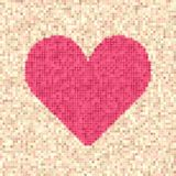 Pixelated heart vector illustration