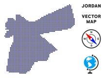 Pixelated Jordan Map royalty-vrije illustratie