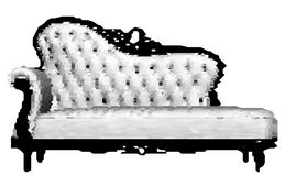 Pixelated Mosaic Tiled Sofa Vector Royalty Free Stock Photos