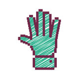 Pixelated open hand with green striped Royalty Free Stock Images
