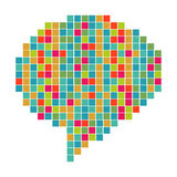 Pixelated różnorodności mowy bąbel Obraz Royalty Free