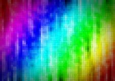 Pixelated-Regenbogenhintergrund Stock Abbildung