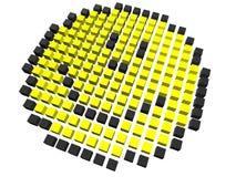 pixelated smiley Arkivbilder