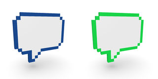 Pixelated speech bubbles Stock Image