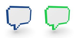 Pixelated speech bubbles royalty free illustration
