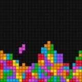 Pixelated-Spiel tetris Muster stock abbildung
