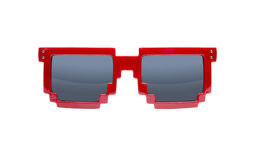 Pixelated sunglasses isolated on white Royalty Free Stock Photography