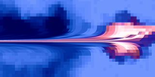 Pixelated tło z jaskrawymi gradientu i plamy skutkami ilustracji