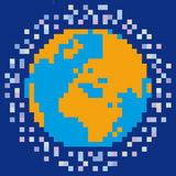 Pixelated world Stock Photography
