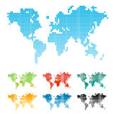 Pixelated world map Royalty Free Stock Photography