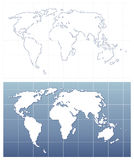Pixelated world map in vector format Royalty Free Stock Photography