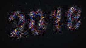 Pixelatedtekst 2018 op het digitale scherm Royalty-vrije Stock Fotografie