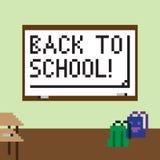Pixelbeeld van het klaslokaal voor de vakantie van kennis Royalty-vrije Stock Afbeeldingen