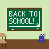 Pixelbeeld van het klaslokaal voor de vakantie van kennis Stock Afbeeldingen