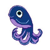 PIXELbläckfisk Royaltyfria Bilder