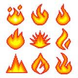 PIXELbrand för uppsättning för leksymbolsvektor Arkivbild