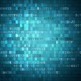 Pixeled binaire achtergrond op het digitale scherm Stock Afbeeldingen