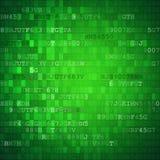 Pixeled binaire achtergrond op het digitale scherm Stock Foto