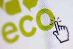 Pixeles de Eco Foto de archivo