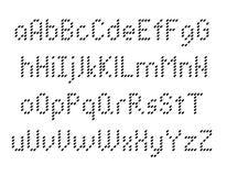 Pixeles de la tipografía del alfabeto Fotos de archivo libres de regalías