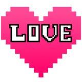 Pixeles del amor Foto de archivo libre de regalías