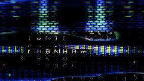 Pixeles futuristas 10849 de la pantalla de visualización Imagen de archivo libre de regalías