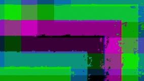 Pixeles, líneas, ángulos e interferencia ilustración del vector