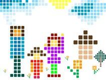 Pixelfamilie vektor abbildung