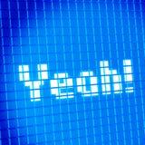 Pixelineinander greifen lcd-Bildschirm mit Yeah Lizenzfreies Stockbild