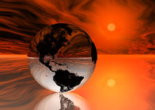 Pixelized Earth Part 4. A rendering of a pixelized earth - part 4 Royalty Free Stock Image