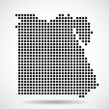 Pixelkaart van Egypte Vector Stock Fotografie
