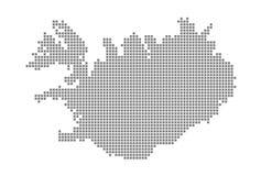 Pixelkaart van IJsland Vector gestippelde die kaart van IJsland op witte achtergrond wordt geïsoleerd Abstracte computer grafisch vector illustratie