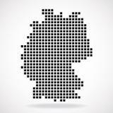 Pixelkarte von Deutschland lizenzfreie abbildung