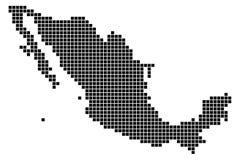 Pixelkarte von Mexiko Stockfotografie