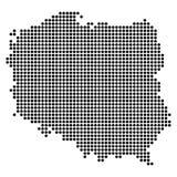 Pixelkarte von Polen Stockfotografie