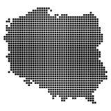 Pixelkarte von Polen Stockfoto